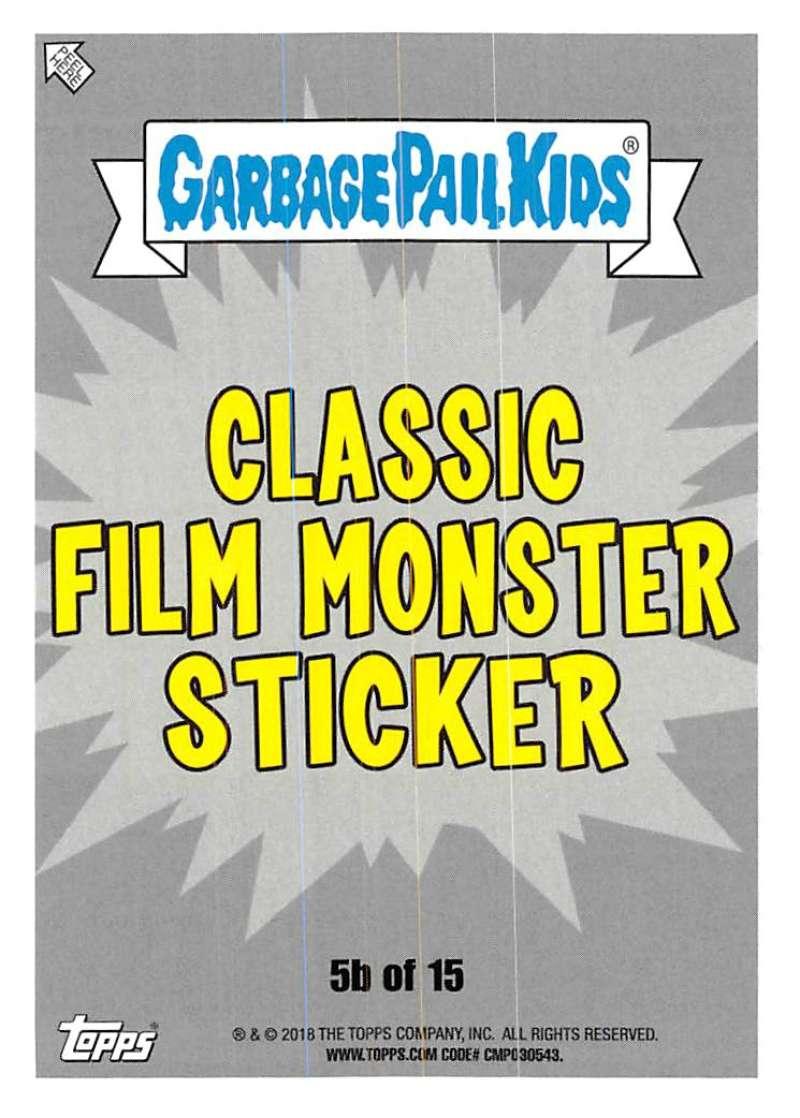 Verzamelingen 2018 Garbage Pail Kids Oh Horror-ible Horror Film Poster Card Singles-Pick Cards