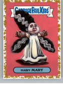 2018 Topps Garbage Pail Kids Oh The Horror-ible Classic Film Monster Stickers Fools Gold #6A HAIRY MARY  SER50  Collectible Trading Card Sticker