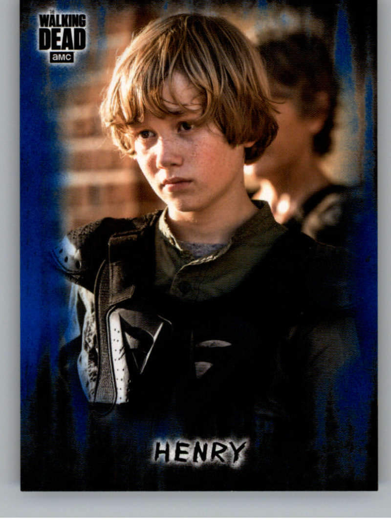 2018 Topps Walking Dead Hunters and the Hunted Blue #52 Henry /50