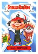2019 Topps Garbage Pail Kids We Hate the '90s Video Games Stickers A #6 POKE- MONRO  Peelable Collectible Trading Sticker Card (Pokemon)