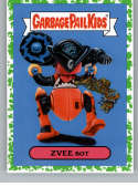 2019 Topps Garbage Pail Kids We Hate the '90s Toys Sticker A-Names Puke #4 of 18 ZVEE BOT