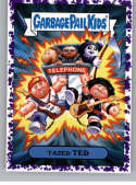 2019 Topps Garbage Pail Kids We Hate the '90s Films Stickers B Jelly Purple #1 TAZED TED  Peelable Collectible Trading Sticker Card (Bill and Ted's Ex