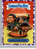 2019 Topps Garbage Pail Kids We Hate the '90s Films Stickers B Jelly Purple #14 ROYAL WITH LUIS  Peelable Collectible Trading Sticker Card (Pulp Ficti
