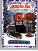 2019 Topps Garbage Pail Kids We Hate the '90s Music and Celebrities Stickers B Jelly Purple #8 FRIED FOREMAN  Peelable Collectible Trading Sticker Car