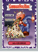 2019 Topps Garbage Pail Kids We Hate the '90s Politics and News Stickers A Jelly Purple #1 DIS -GEORGE  Peelable Collectible Trading Sticker Card (Geo