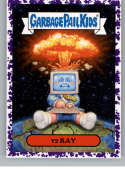 2019 Topps Garbage Pail Kids We Hate the '90s Politics and News Stickers A Jelly Purple #9 Y2 KAY  Peelable Collectible Trading Sticker Card (Y2K)