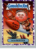 2019 Topps Garbage Pail Kids We Hate the '90s Politics and News Stickers B Jelly Purple #3 SCUD BUSTER  Peelable Collectible Trading Sticker Card (Nor