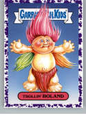 2019 Topps Garbage Pail Kids We Hate the '90s Toys Stickers A Jelly Purple #2 TROLLIN' ROLAND  Peelable Collectible Trading Sticker Card (Troll Doll)