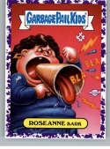 2019 Topps Garbage Pail Kids We Hate the '90s TV Stickers A Jelly Purple #3 ROSEANNE BARK  Peelable Collectible Trading Sticker Card (Roseanne)