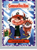 2019 Topps Garbage Pail Kids We Hate the '90s Video Games Stickers B Jelly Purple #6 CATCH 'EM AL  Peelable Collectible Trading Sticker Card (Pokemon)