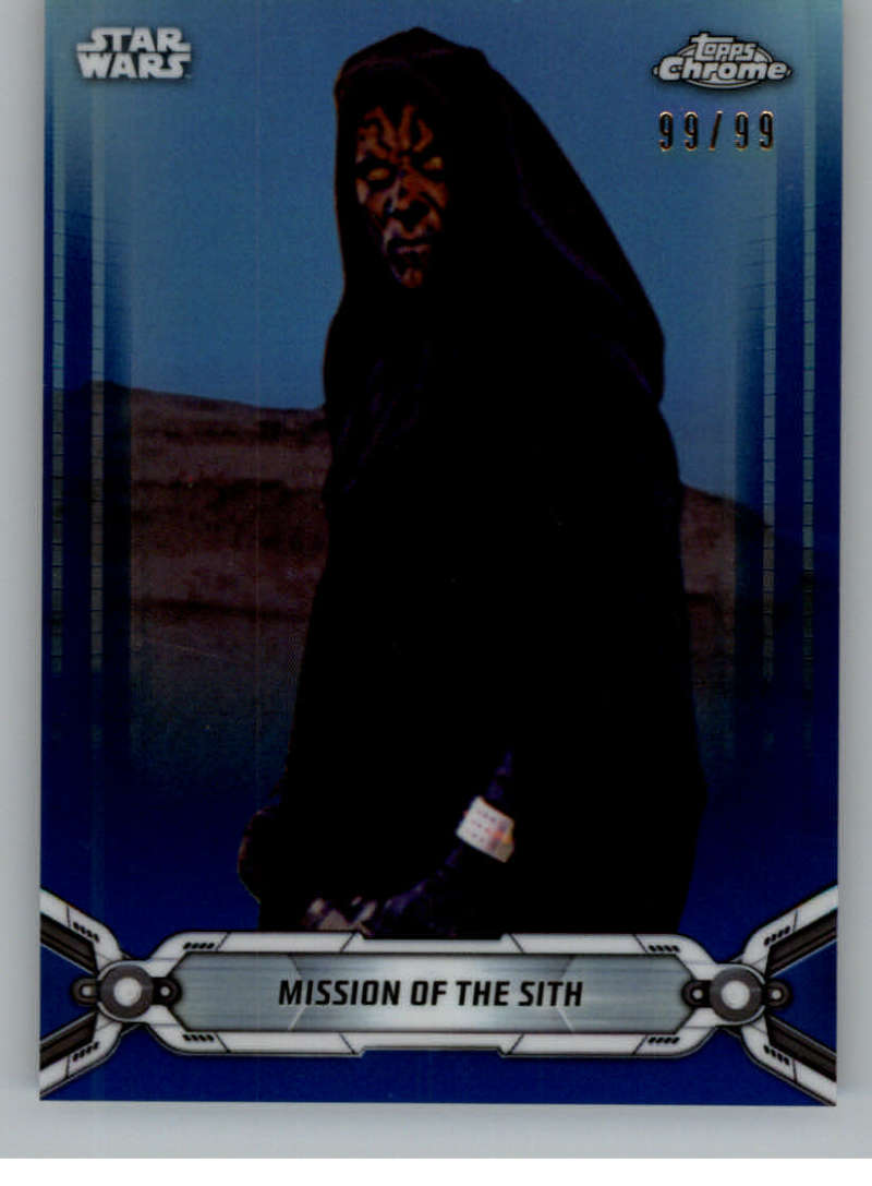 2019 Topps Chrome Star Wars Legacy Refractors Blue