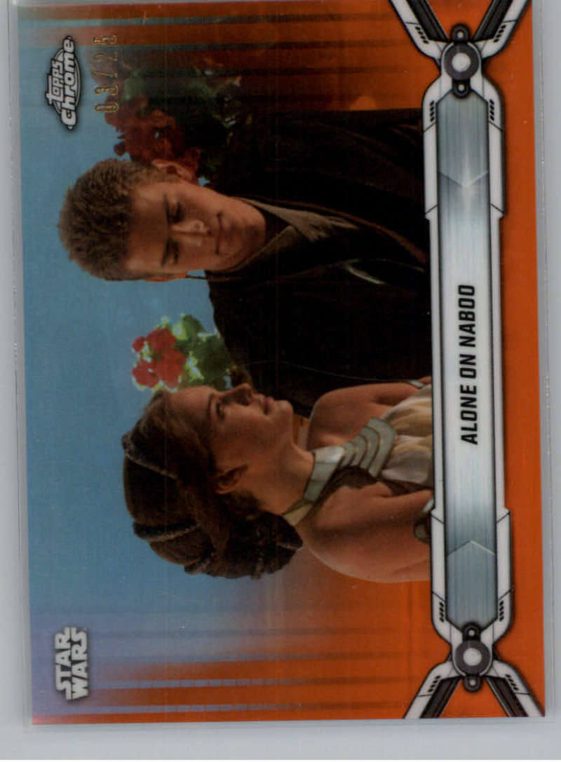 2019 Topps Chrome Star Wars Legacy Refractors Orange