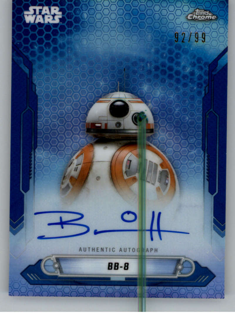 2019 Topps Chrome Star Wars Legacy New Trilogy Autographs Refractors Blue