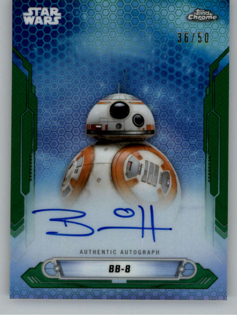 2019 Topps Chrome Star Wars Legacy New Trilogy Autographs Refractors Green
