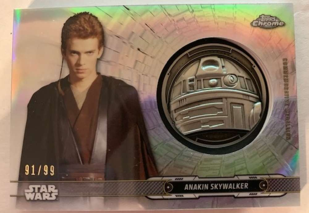 2019 Topps Chrome Star Wars Legacy Droid Commemorative Medallion Relics Refractors