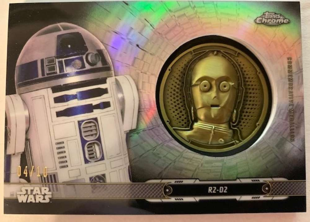 2019 Topps Chrome Star Wars Legacy Droid Commemorative Medallion Relics Refractors Black