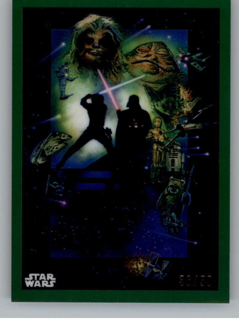 2019 Topps Chrome Star Wars Legacy Posters Refractors Green