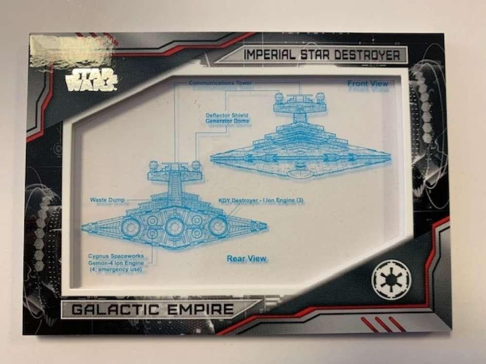 2019 Topps Star Wars Skywalker Saga Commemorative Blueprints Relics