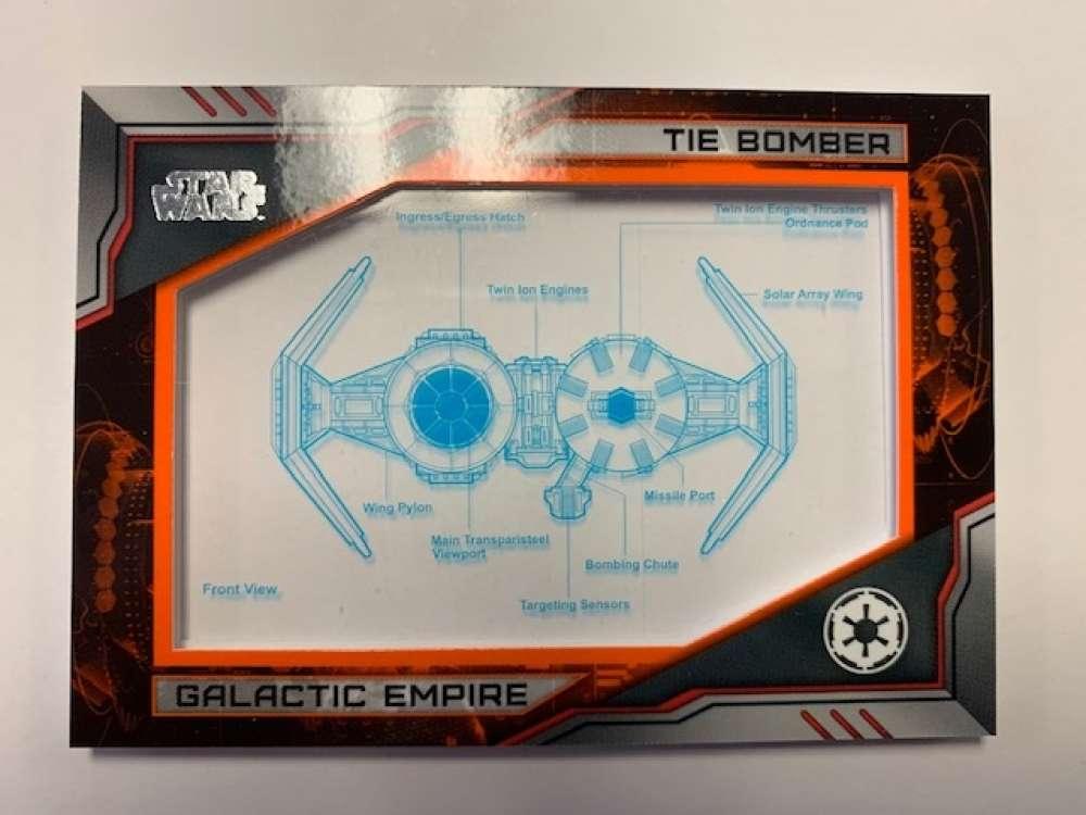 2019 Topps Star Wars Skywalker Saga Commemorative Blueprints Relics Orange