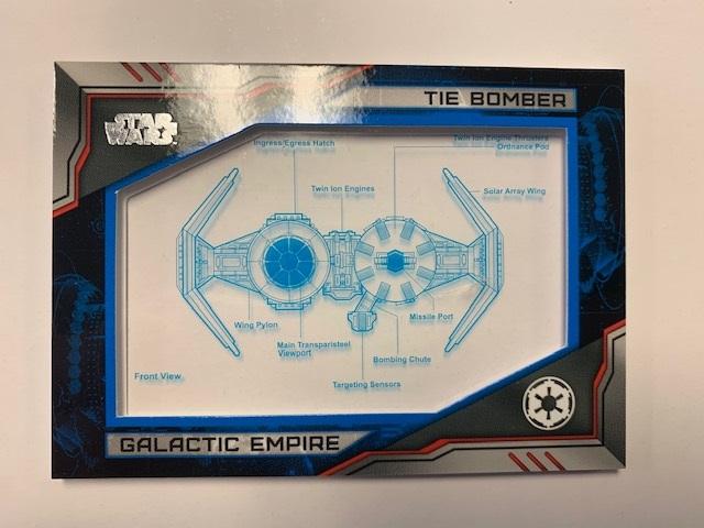 2019 Topps Star Wars Skywalker Saga Commemorative Blueprints Relics Blue