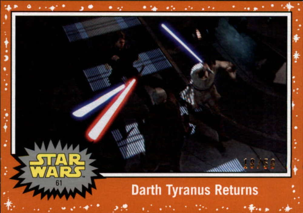 2019 Topps Star Wars Journey to Rise of Skywalker Orange