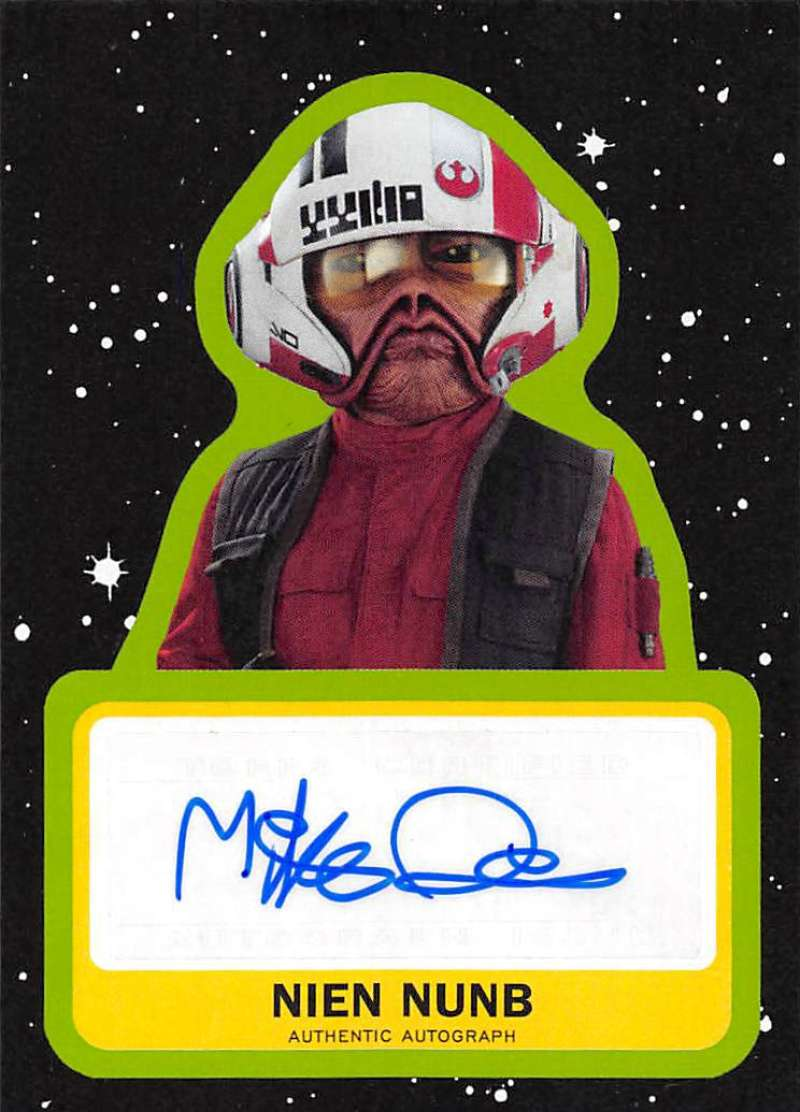 2019 Topps Star Wars Journey to Rise of Skywalker Autographs