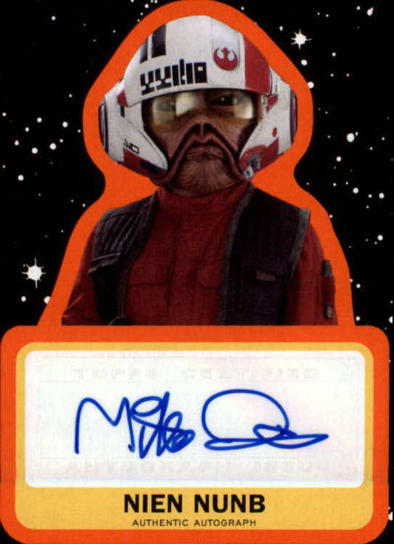 2019 Topps Star Wars Journey to Rise of Skywalker Autographs Orange