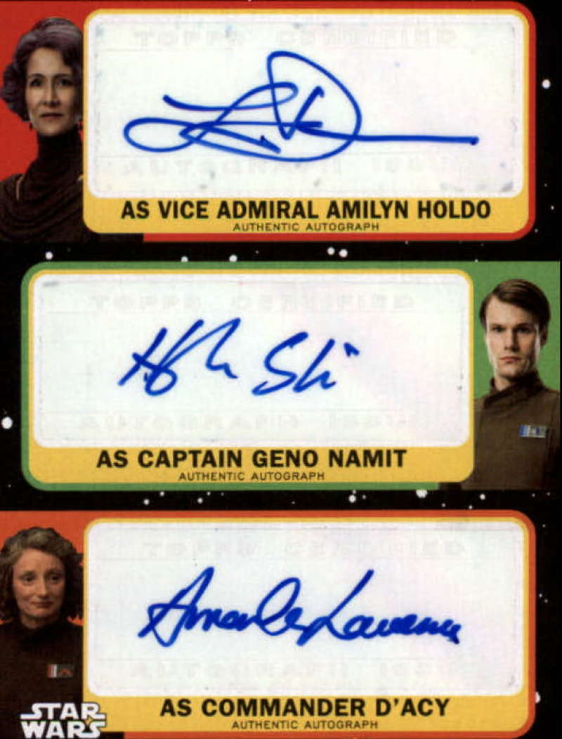 2019 Topps Star Wars Journey to Rise of Skywalker Triple Autographs