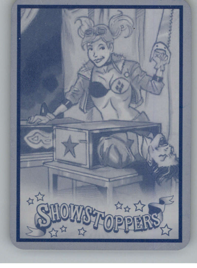2019 Cryptozoic DC Bombshells Series 3 Showstoppers Printing Plate Cyan