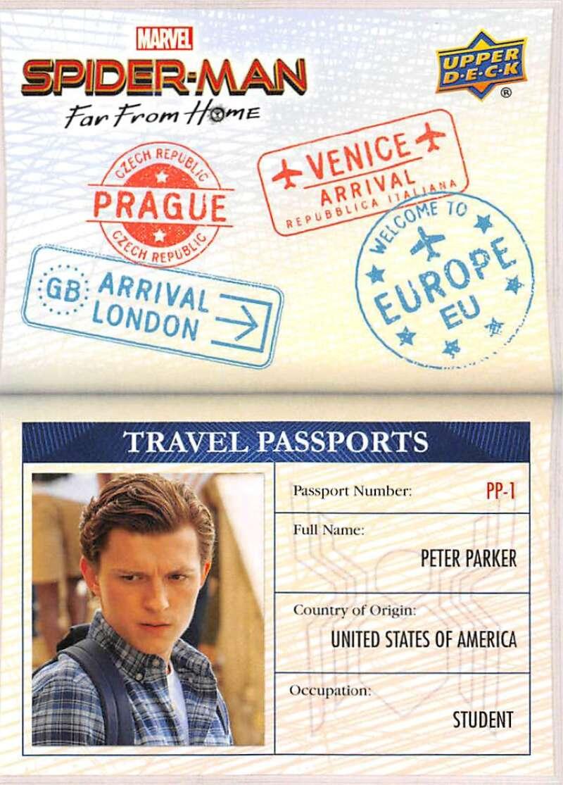 2019 Upper Deck Spider-Man Far From Home Travel Passports