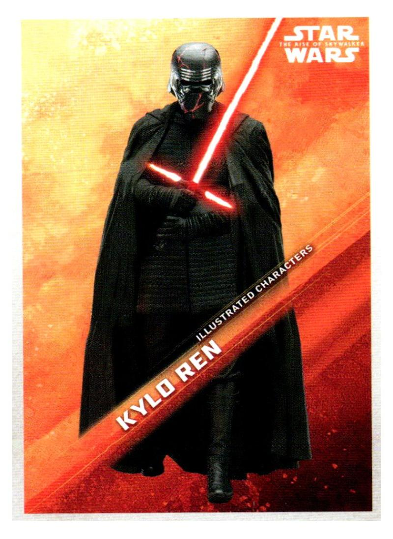 2019 Topps The Rise of Skywalker Series 1 Illustrated Characters Black
