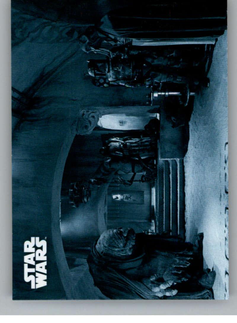 2020 Topps Star Wars Return of the Jedi Black and White Blue Hue Shift