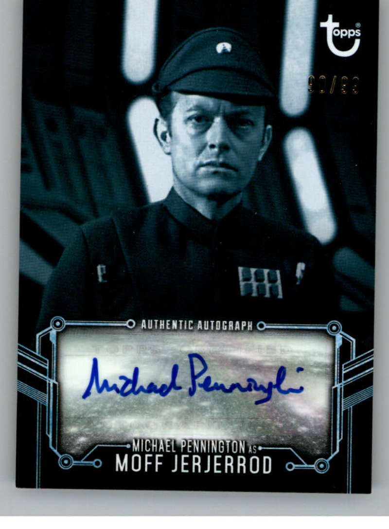2020 Topps Star Wars Return of the Jedi Black and White Autographs Blue Hue Shift
