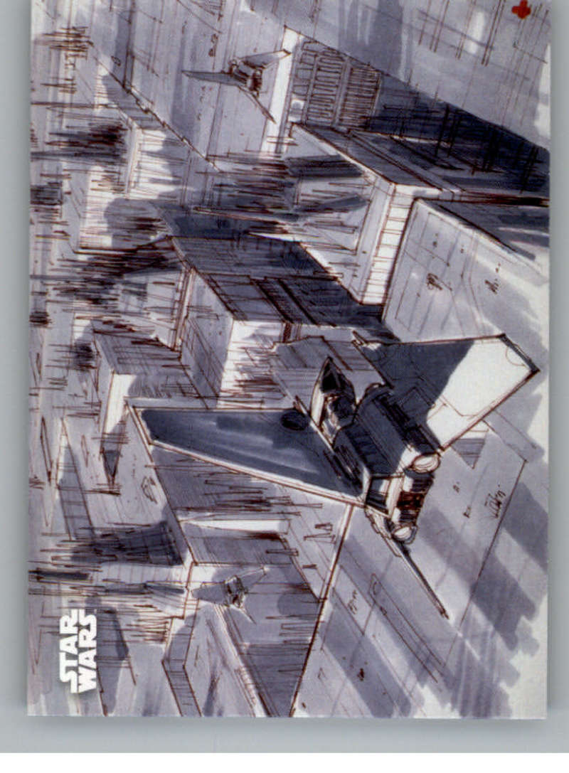 2020 Topps Star Wars Return of the Jedi Black and White Concept Art
