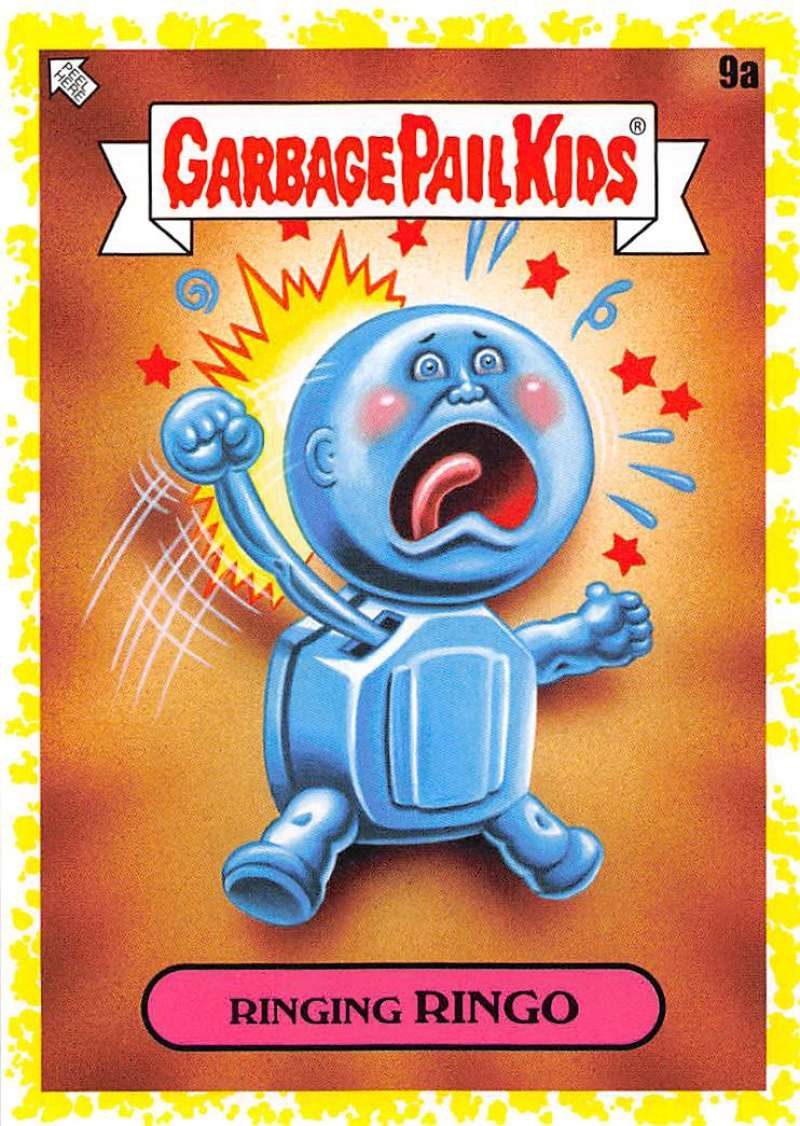 2020 Topps Garbage Pail Kids Late to School A Names Phlegm Yellow