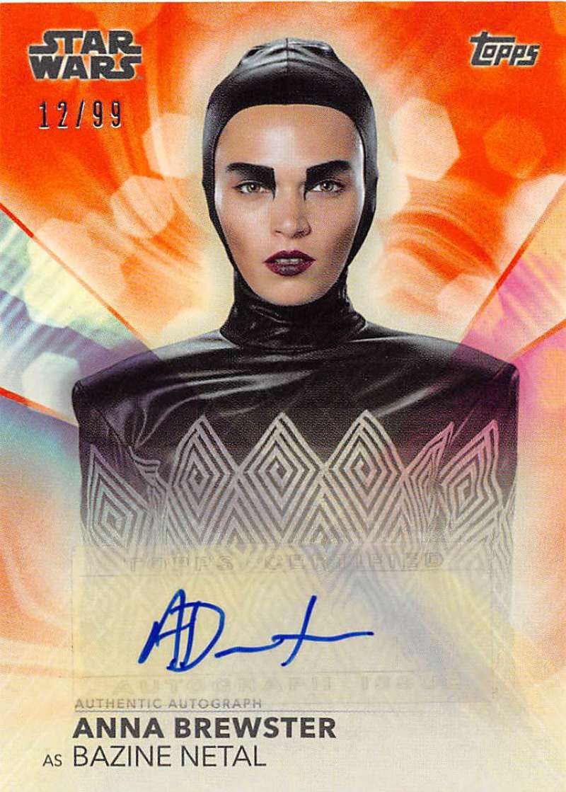 2020 Topps Women of Star Wars Autographs Orange