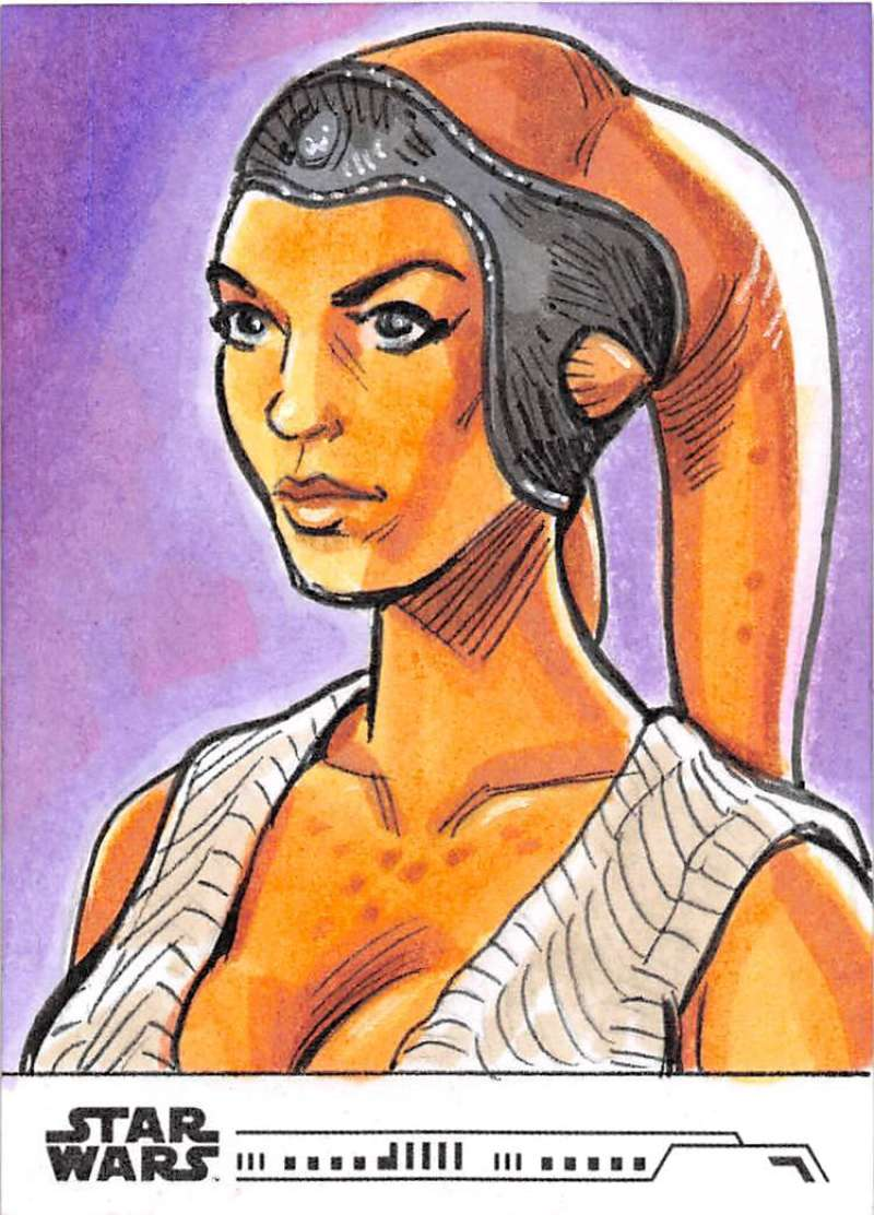 2020 Topps Women of Star Wars Sketch Cards