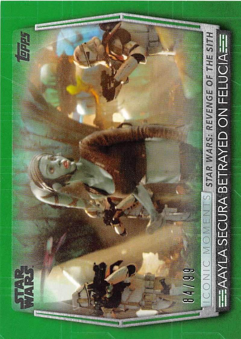 2020 Topps Women of Star Wars Iconic Moments Green