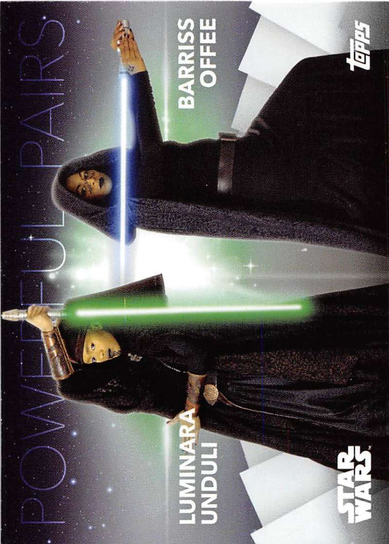 2020 Topps Women of Star Wars Powerful Pairs