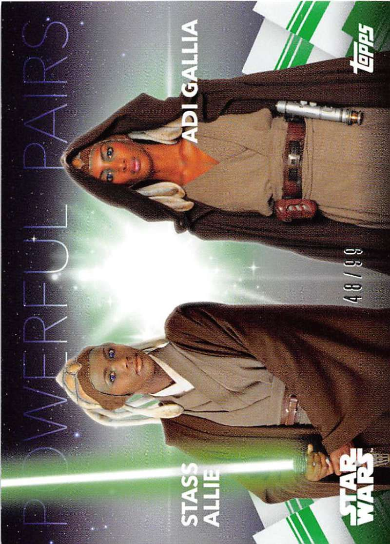 2020 Topps Women of Star Wars Powerful Pairs Green