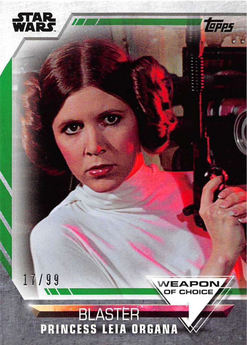 2020 Topps Women of Star Wars Weapon of Choice Green