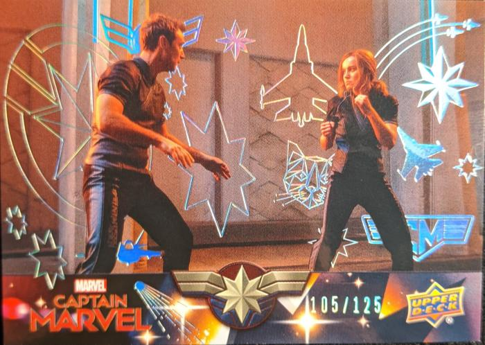 2020 Upper Deck Avengers Endgame and Captain Marvel Captain Marvel Silver Foil