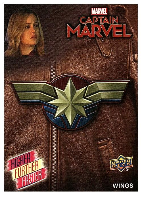2020 Upper Deck Avengers Endgame and Captain Marvel Higher Further Faster