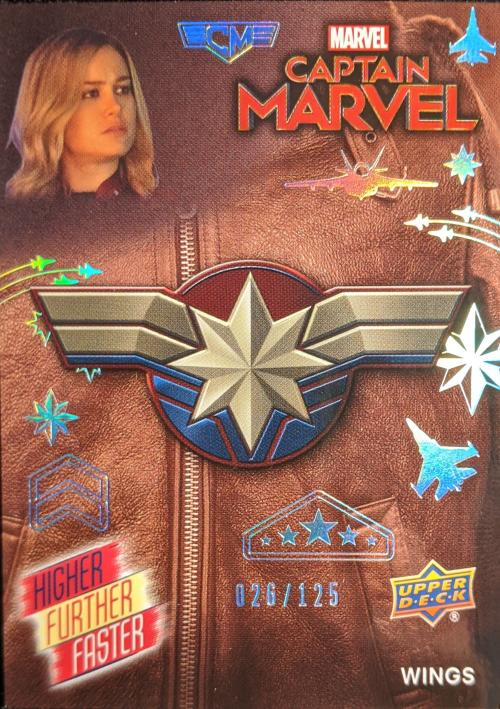 2020 Upper Deck Avengers Endgame and Captain Marvel Higher Further Faster Silver Foil
