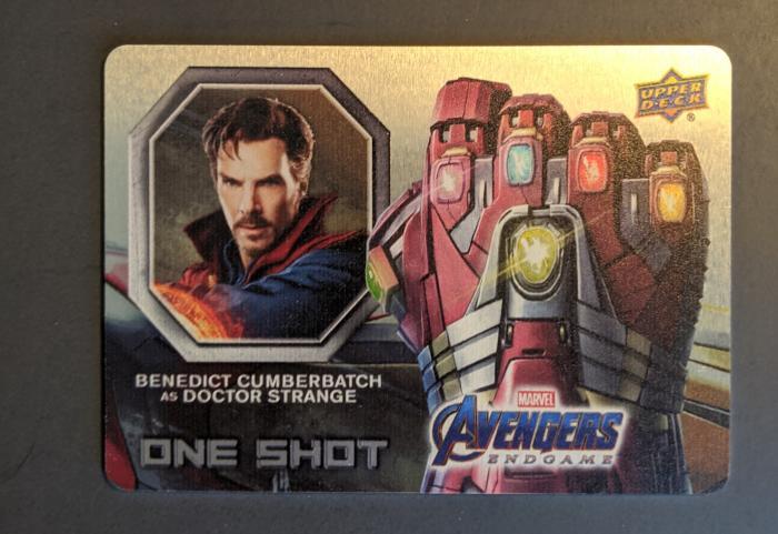 2020 Upper Deck Avengers Endgame and Captain Marvel One Shot