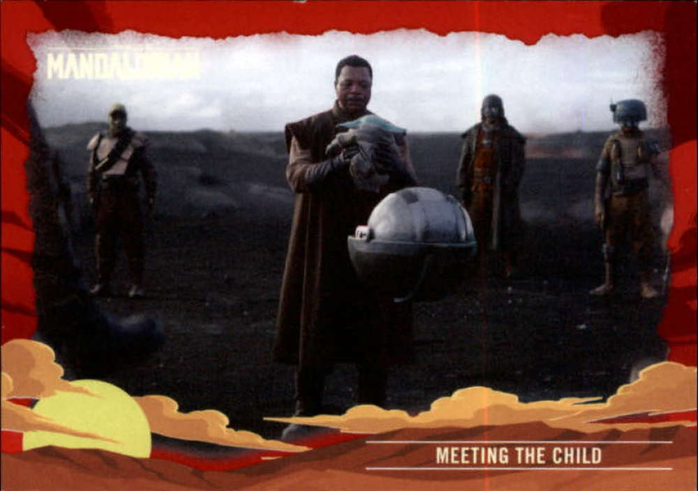 2020 Topps The Mandalorian Journey of the Child Red
