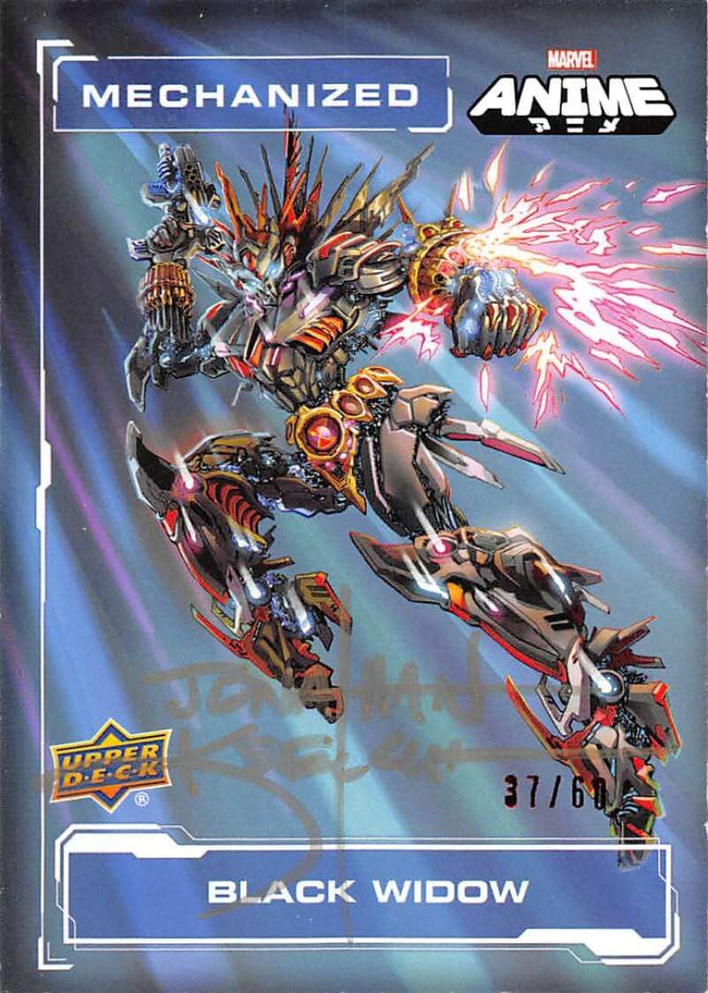 2020 Upper Deck Marvel Anime Mechanized - Jonathan Koelsch Artist Autographs
