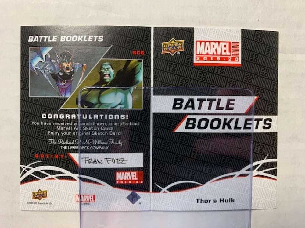 2020 Upper Deck Marvel Annual Battle Booklet Sketch Cards