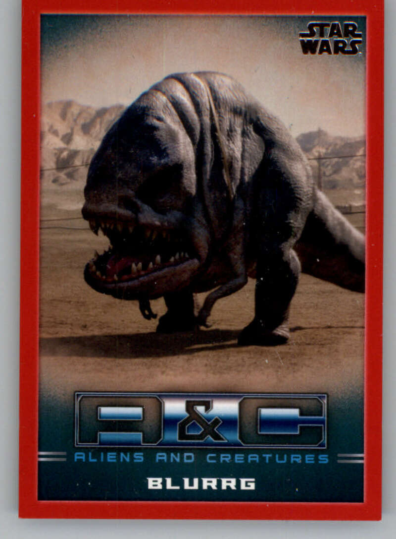 2020 Topps Star Wars The Mandalorian Season 1 Aliens and Creatures Red