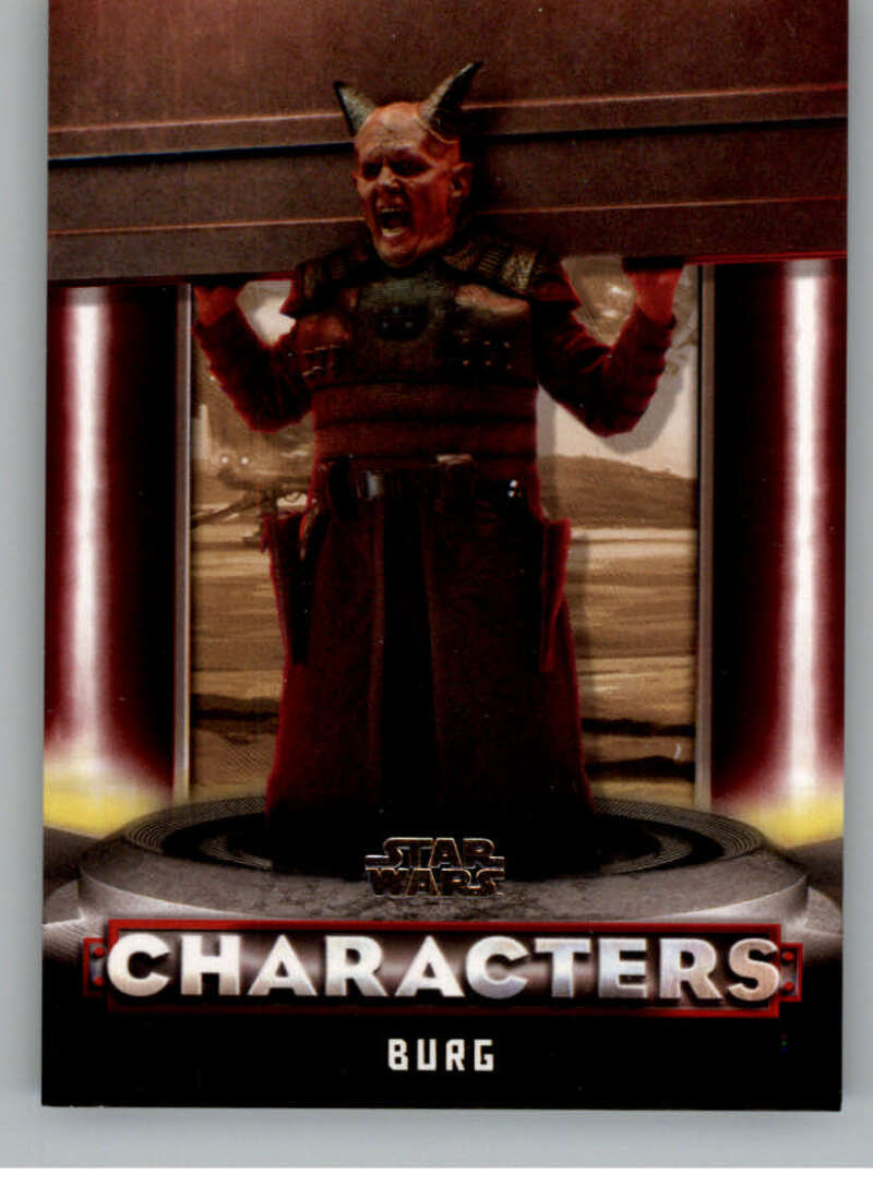 2020 Topps Star Wars The Mandalorian Season 1 Characters Red